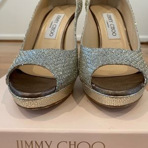 Jimmy Choo Shoes - Jimmy Choo Luna Peep Toe Pumps